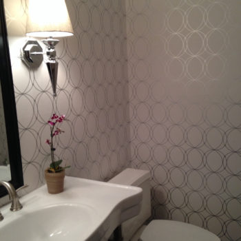 The Look for Less: Powder Room Wallpaper
