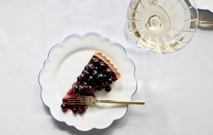 An Easter Blueberry Tart